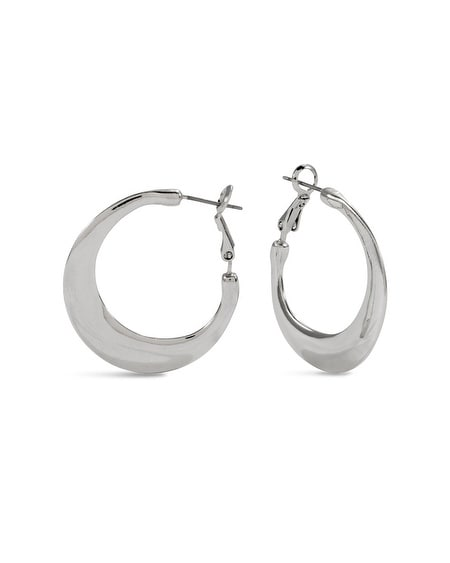 Candi Silver-Tone Hoop Earrings