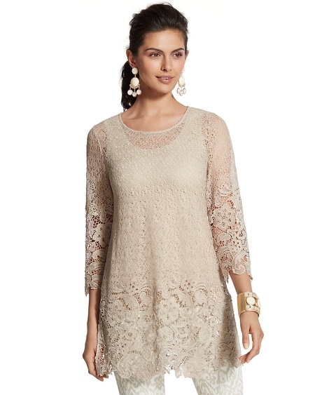 Travelers Collection Lace Tunic