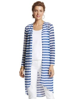 Striped Tess Long Cardigan