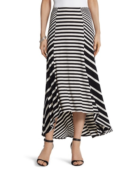 Mixed Stripe Maxi Skirt