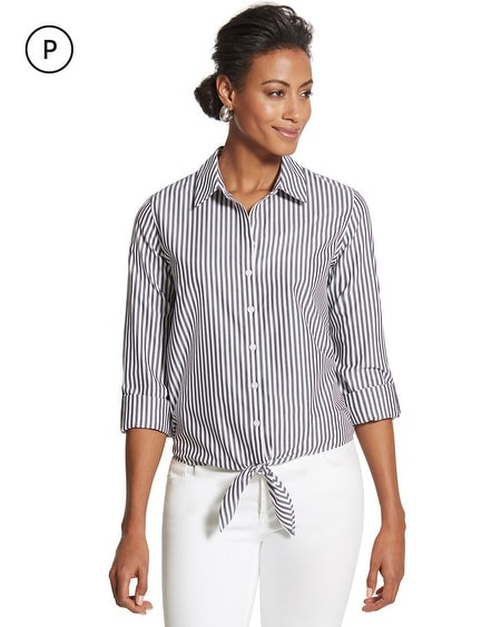 Petite Effortless Tyree Striped Wrinkle-Free Shirt