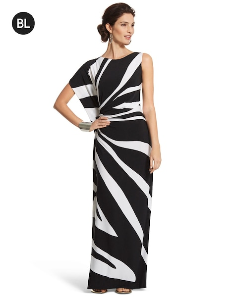 One Shoulder Maxi Dress Chicos
