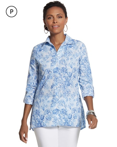 Petite Effortless Cayla Button-Down Shirt