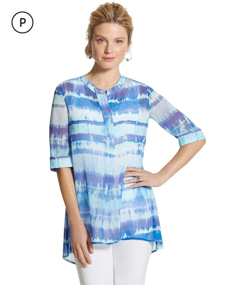 Petite Tie-Dye Striped Jillian Top