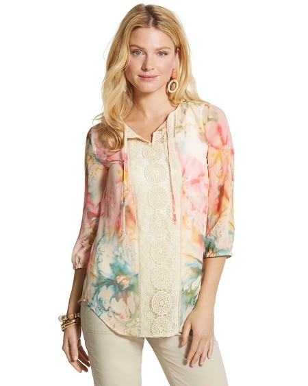 Diffused Floral Lynelle Top