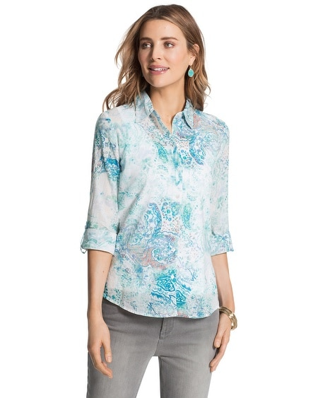 Milada Paisley Button-Down Shirt