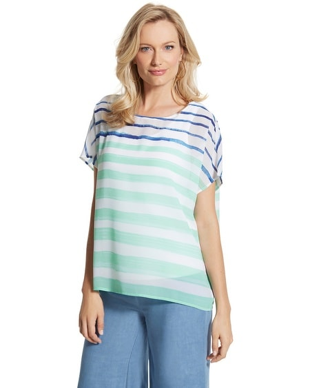 Soft Stroke Striped Dominique Top
