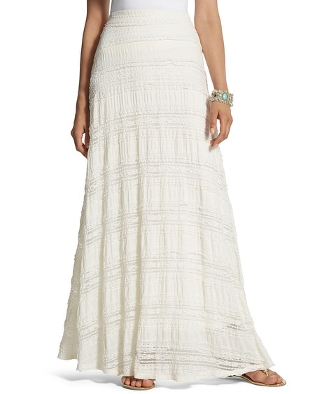Lia Textured Lace Maxi Skirt