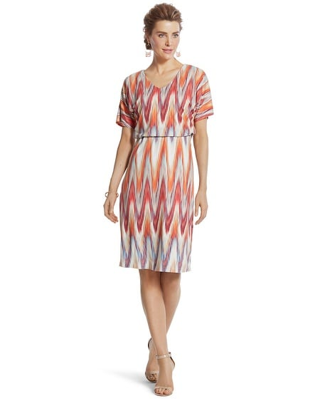 Cameron Ikat-Print Dress