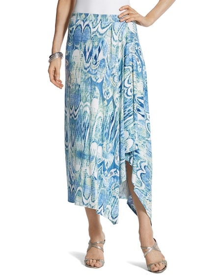 Molly Ikat Midi Skirt