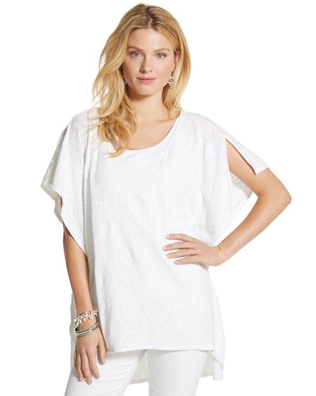White Summer Poncho