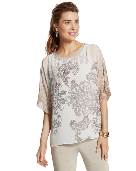 Travelers Collection Scrolled Paisley Top
