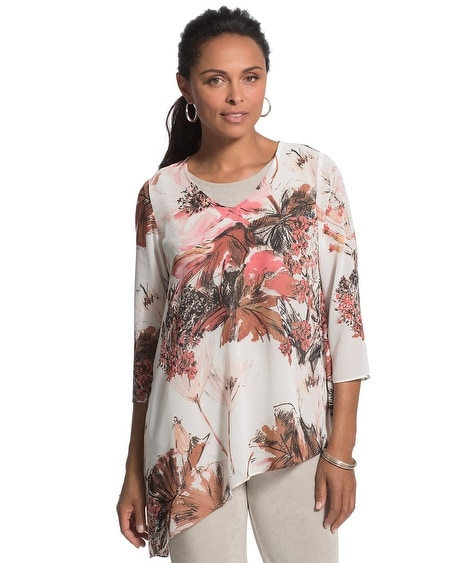 Travelers Collection Floral Top