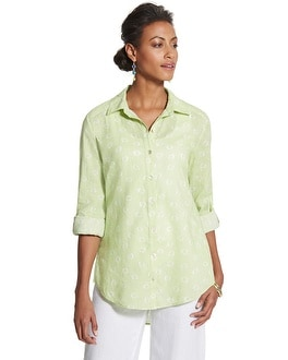 Jourdan Circle Button-Down Shirt