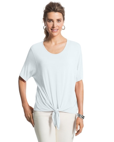 Seamed Tie-Front Top