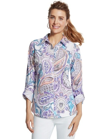 Effortless Paisley Wrinkle-Free Shirt