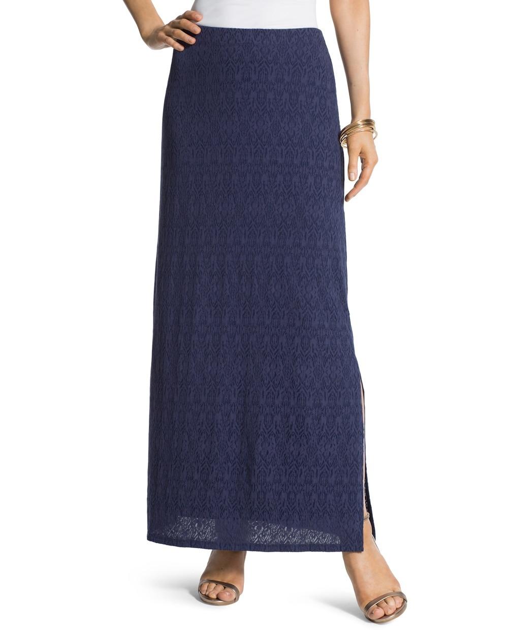 ikat pattern maxi skirt chicos