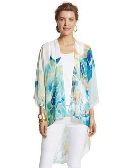 Dynamic Floral Kimono