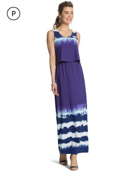 Petite Tie Dye Maxi Dress Chico S