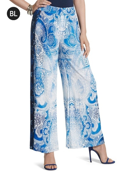 Black Label Printed Palazzo Pants
