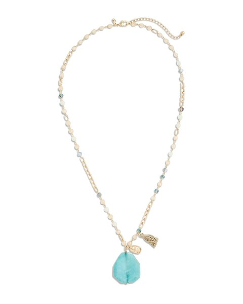 mint green pendant necklace chicos