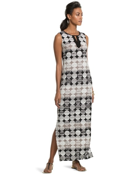 Graphic Dots Blocked Maxi Dress
