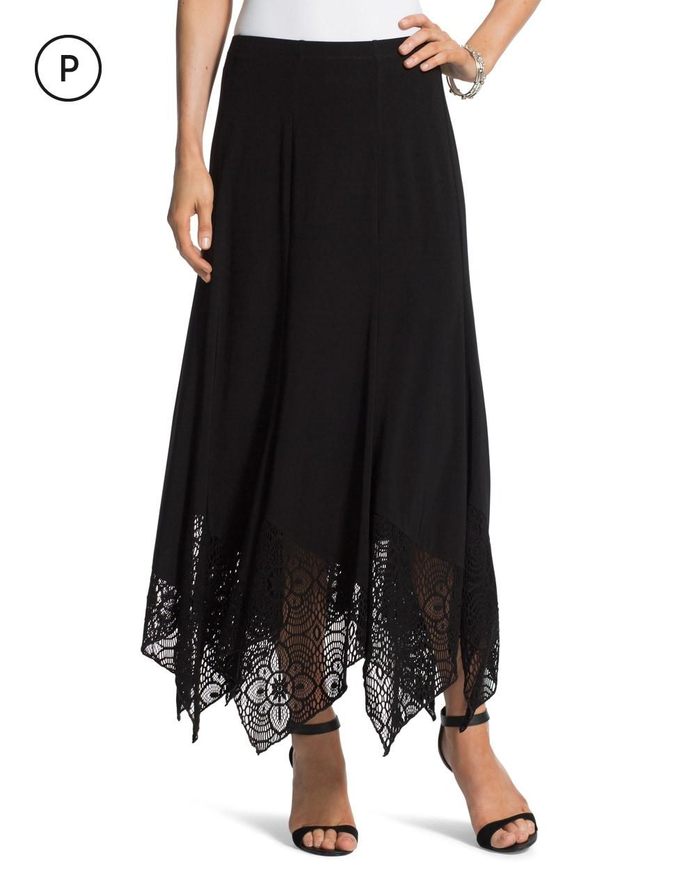 black maxi skirt chico s