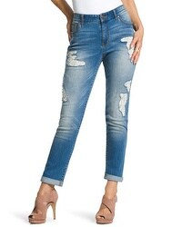 Platinum Destructed Lace Ankle Jeans