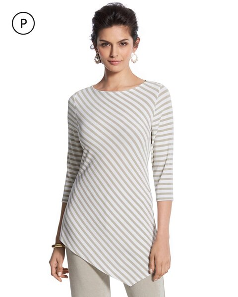 834d347b417 Return to thumbnail image selection Travelers Classic Petite Striped Top  video preview image