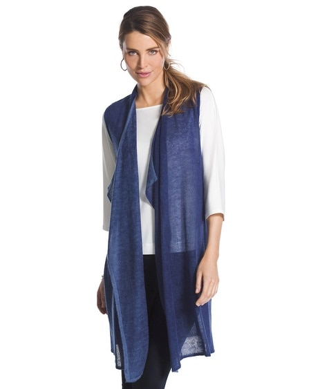 Veena Long Blue Vest