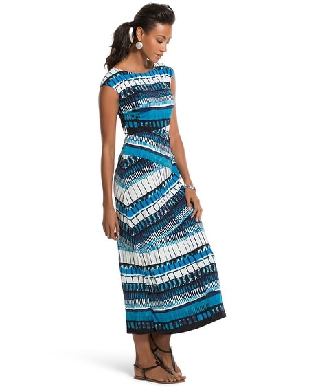 Abstract Lines Midi Dress