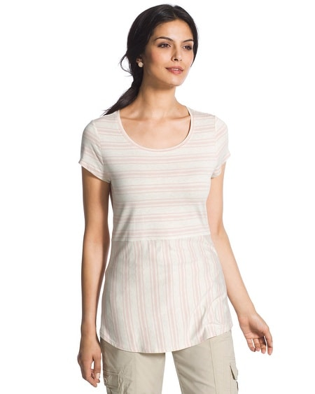 Striped Sandra Shirttail Tee