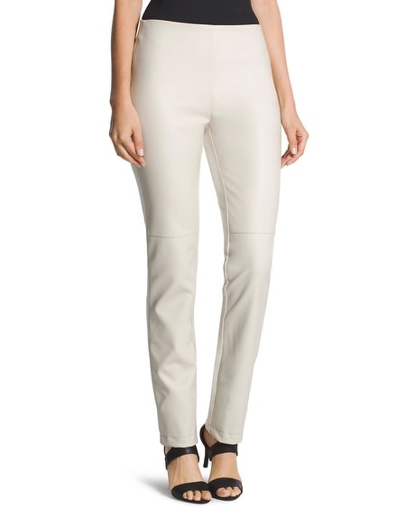 Abbey Pieced Faux-Leather Pants