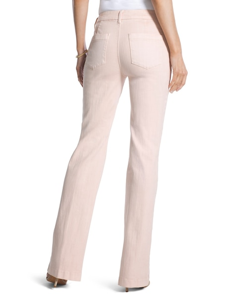 Platinum Flare Jeans in Blush Pink - Chicos
