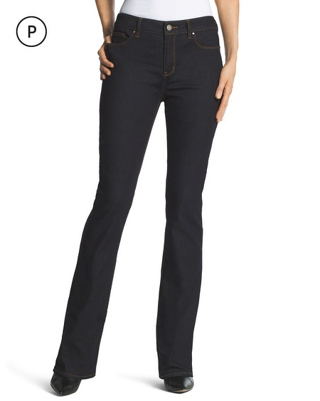 Petite Platinum Barely Bootcut Jeans