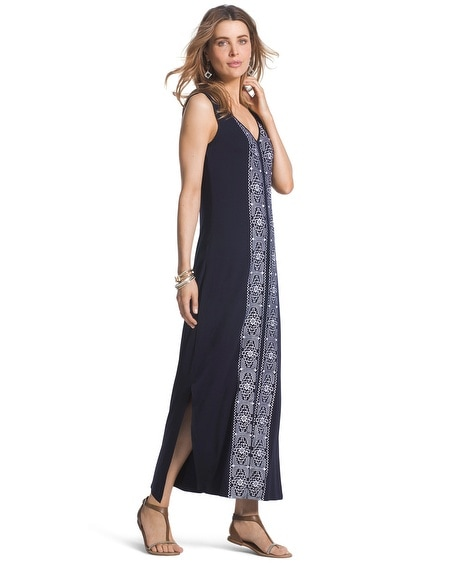 Embroidered Maxi Dress