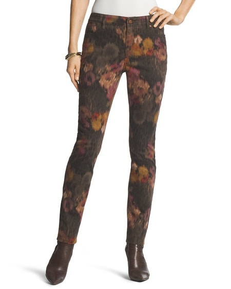 Platinum Autumn Floral Jeggings