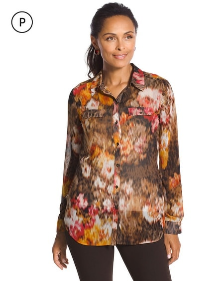 Petite Autumn Floral Joceline Button Down Shirt
