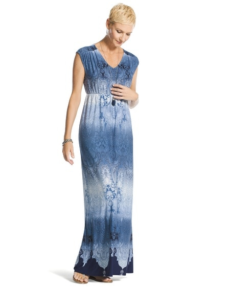 Ombre Paisley Maxi Dress