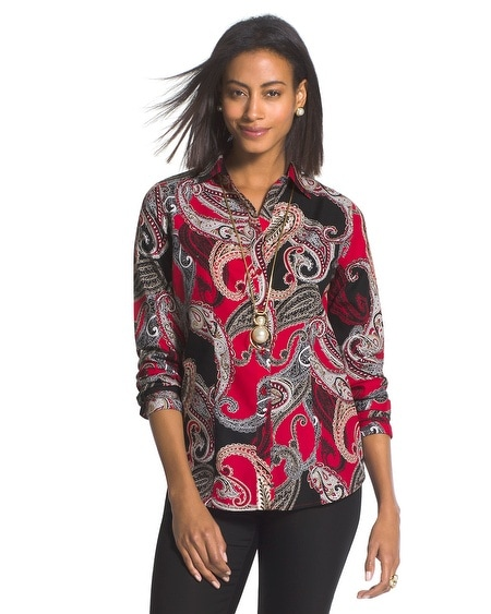 Effortless Chic Paisley Caroline Shirt
