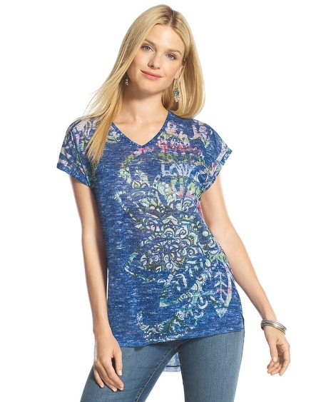 Lori Stenciled Paisley Top
