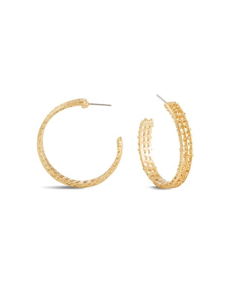 Teresa Filigree Hoop Earrings