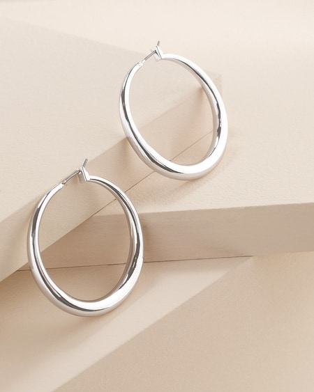 Cassie Silver-Tone Circle Earrings