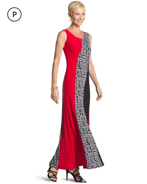 1a5a23c6760 Return to thumbnail image selection Petite Tribal-Print Maxi Dress video  preview image