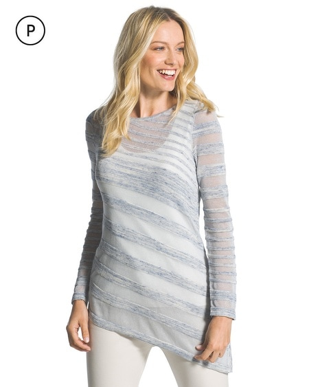 Petite Nicki Striped Sweater