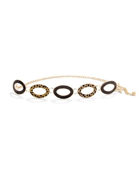 Aubree Oval-Link Chain Belt