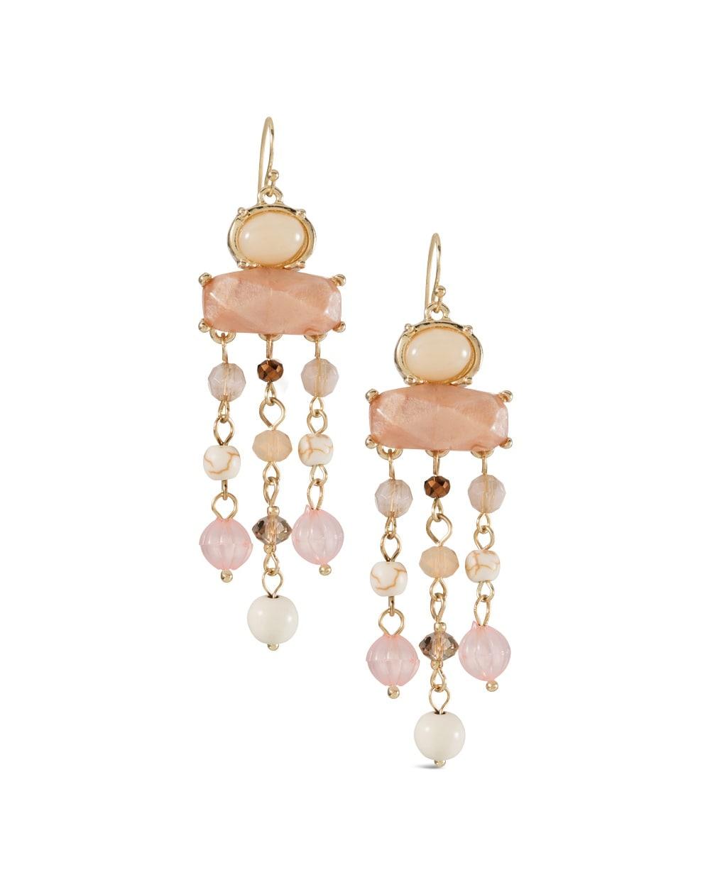 Azalea Blush Chandelier Earrings