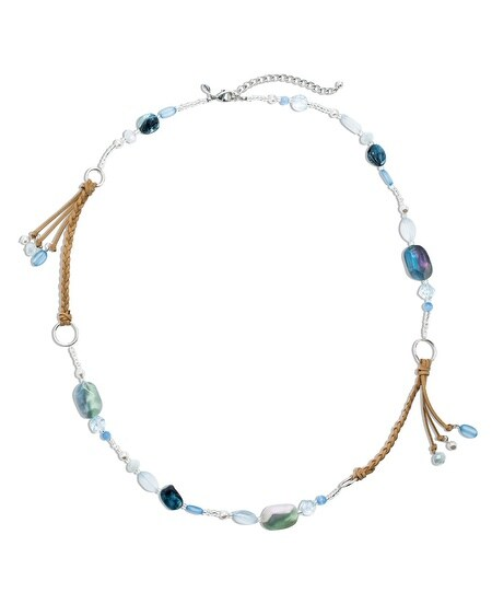 Louisa Long Blue Necklace