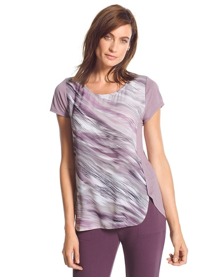 Zenergy Retreat Mixed-Fabric Tee