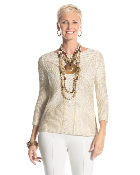 Metallic Mix Sienna Pullover Sweater